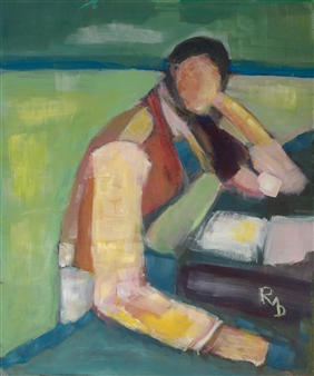 "Young Boy Acrylic on Canvas 23.5"" x 19.5"""
