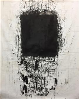 "Vogelfrei Gouache on Paper 47.5"" x 39.5"""