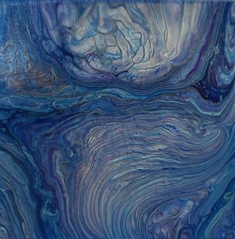 """Big Blue Acrylic on Canvas 12"""" x 12"""""""