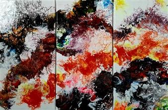 "Flow Turner Acrylic on Canvas 24"" x 36"""