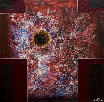"""Body of the Christ Mixed Media on Canvas 35"""" x 35"""""""