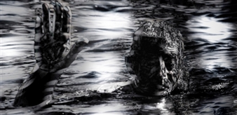 "The Swimmer of the Sea of Dark Desires Archival Pigment Print 19.5"" x 39.5"""