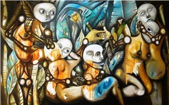 """La Jungla Oil on Canvas 43.3"""" x 55.1"""""""