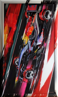 "33_Max Verstappen Night Race Digital Artwork Print on Canvas & Acrylic 73.5"" x 44"""