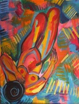 """Desnuda Acrylic on Canvas 23.5"""" x 19.5"""""""
