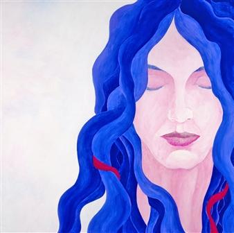 """Madona Two Acrylic on Canvas 36"""" x 36"""""""
