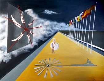"""Le Rêve d'Eole Oil on Canvas 29"""" x 36.5"""""""