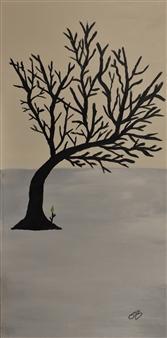 """Espoir Acrylic on Canvas 30"""" x 15"""""""