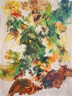 "Early Autumn on Oak Creek Canyon Ink on Clayboard 48"" x 36"""