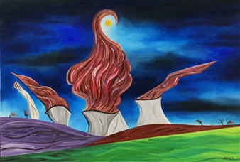 """Privo Oil on Canvas 23.5"""" x 35.5"""""""