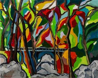 """Korean Mountain Oil on Canvas 24"""" x 30"""""""