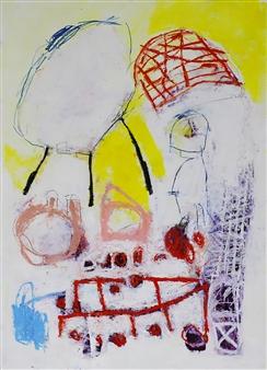 "Red Shoe Oil & Pen on Paper 27.5"" x 19.5"""