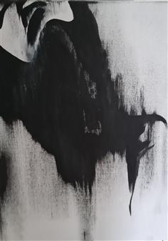 "Angel No. 4 Acrylic on Canvas 16"" x 12"""
