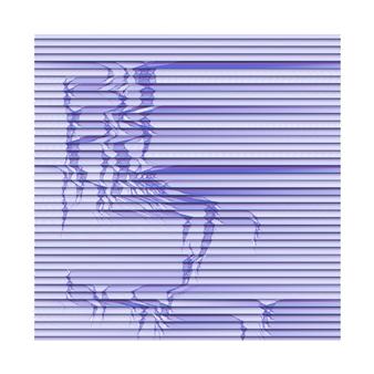 "Quakes 71 07 Pigment print on Hahnemühle Photo Rag Baryta 315 gsm 22"" x 22"""