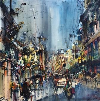 "Urbano Watercolor 25.5"" x 25.5"""