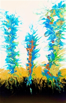 "Spring Rising 3 Acrylic on Canvas 36"" x 24"""