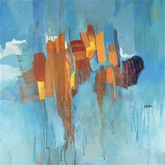"""Jagged Peaks Acrylic on Canvas 20"""" x 20"""""""