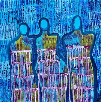 "Journey Of Healing Acrylic on Canvas 20"" x 20"""