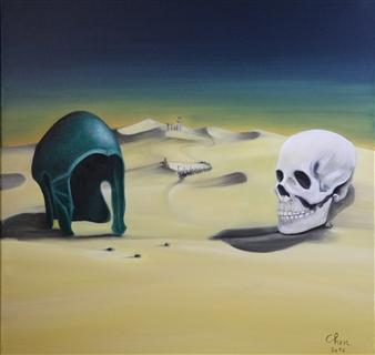 "Si Vis Pacem, Para Bellum Oil on Canvas 24"" x 24"""