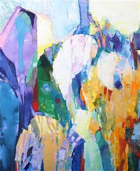"Desert Garden Oil on Canvas 24"" x 20"""