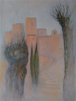 "La Bastide au Printemps Acrylic on Canvas 25.5"" x 19.5"""