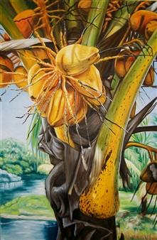 """Fairchild Palm Oil on Canvas 24"""" x 36"""""""