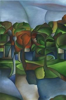 "Free Foliage Oil on Canvas 24"" x 16"""