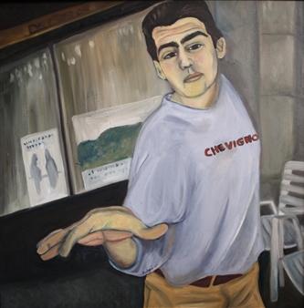 """Chevigno Oil on Canvas 25"""" x 25"""""""