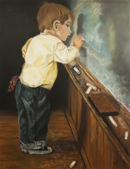"""Lost in Dedication Pastel on Paper 23.5"""" x 19.5"""""""