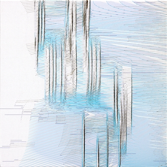"Quakes 19A 02 Burnt pigment print on Fredrix Archival Print Canvas 340g 20"" x 20"""