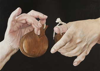 """Manos Maestras  (My Mother's Hands) Oil on Stretched Canvas Board 19.5"""" x 27.5"""""""