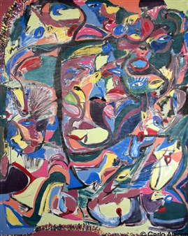 """In the Act of Reflection Acrylic 71"""" x 57"""""""