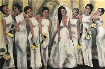 "Bridal Party Attitude Giclee Print 30"" x 40"""
