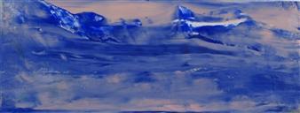 """Glacier Oil on Paper 9"""" x 23"""""""