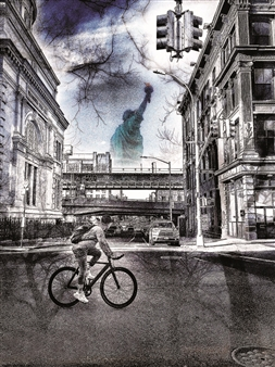 "Brooklyn & The Lady Photograph on Plexiglass 40"" x 30"""