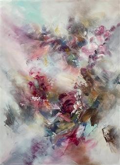 """Run with the Feeling Acrylic & Spraypaint on Canvas 40"""" x 30"""""""