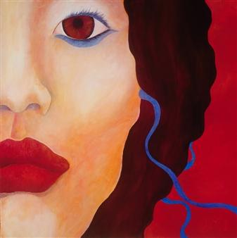 "Brown Eyed Girl Acrylic on Canvas 36"" x 36"""