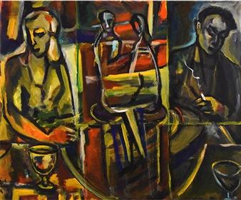 """Caffee Acrylic on Canvas 19.7"""" x 23.6"""""""