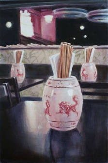 """Meeting the Emperors III Oil on Canvas 24"""" x 16"""""""