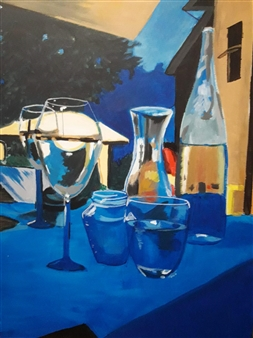 """Una Tarde de Verano Acrylic on Canvas 28"""" x 19.5"""""""