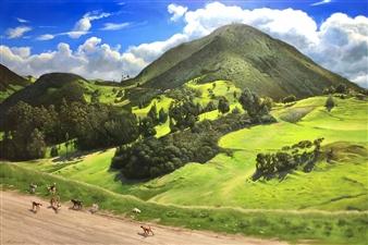 """Jauria Oil on Canvas 32"""" x 48"""""""