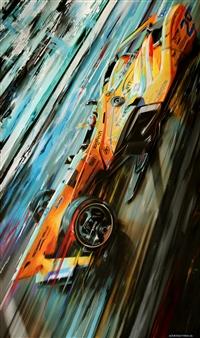 "29_Alonso INDY500 Digital Artwork Print on Canvas & Acrylic 67.5"" x 40"""