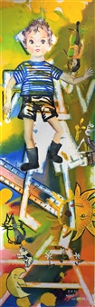 """What Happened Oil on Canvas 48"""" x 16"""""""