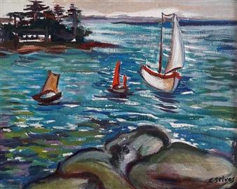 """Marina Oil on Canvas 13.5"""" x 18.5"""""""
