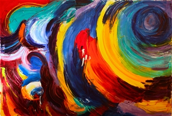 """Garage Painting Oil on Canvas 36"""" x 48"""""""