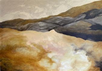 """Inverted Desert Oil on Canvas 27.5"""" x 39"""""""
