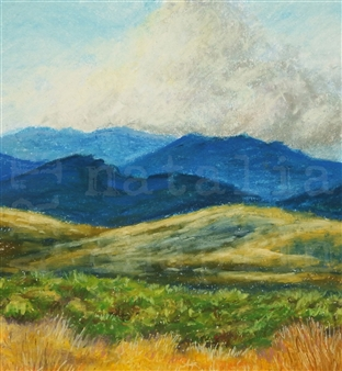 """High Country Pastel on Paper 23"""" x 23"""""""