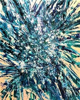 "Splatter Abstraction VI. Acrylic on Canvas 48"" x 36"""