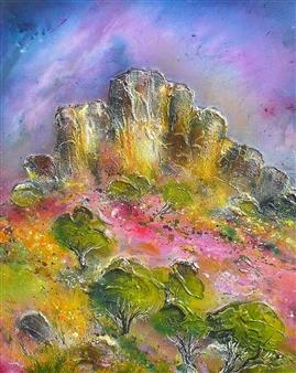 """The Fairy Loving Mountain Acrylic on Canvas 28.5"""" x 24"""""""