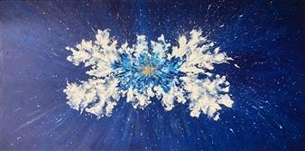"""Luz en el Fondo del Mar Acrylic on Canvas 39.5"""" x 79"""""""